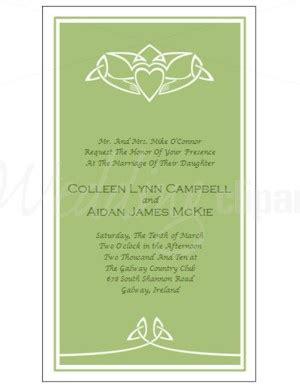 celtic wedding invitation templates free printable celtic claddagh invitation template