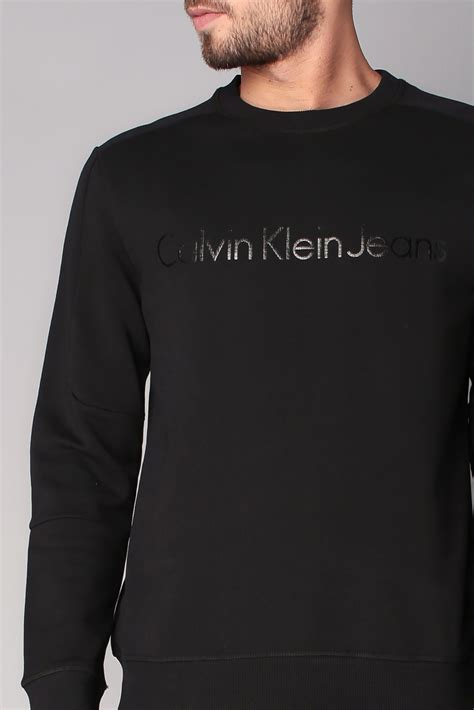 Ck Seven Zip Up calvin klein sweatshirt in black for lyst