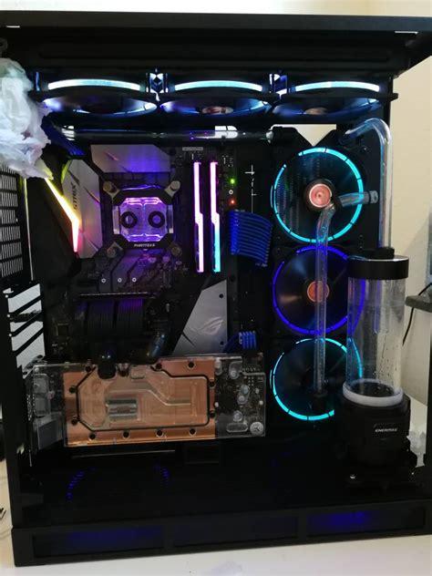 eigenbau lian li pc owgx rog hard tube build black