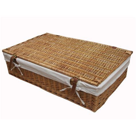 wicker shoe storage buy wicker underbed storage baskets from the basket