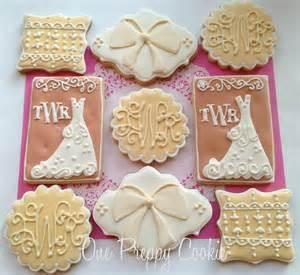 one preppy cookie bridal shower cookies