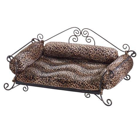 safari print pet bed leopard print metal framed bed