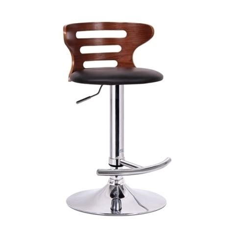 modern bar stool buell walnut and black modern bar stool upc