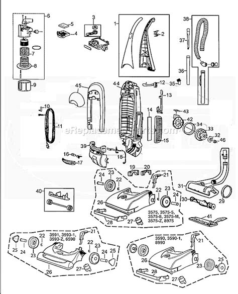 bissell proheat parts diagram bissell 8990 parts list and diagram ereplacementparts