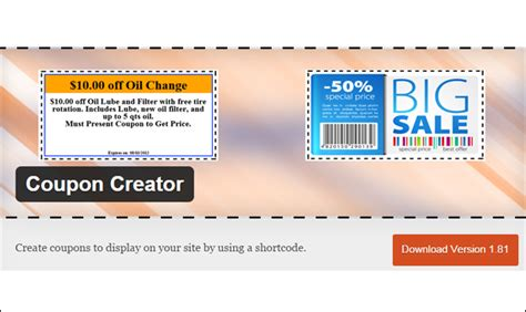 coupon maker template 40 best coupon plugins wp template