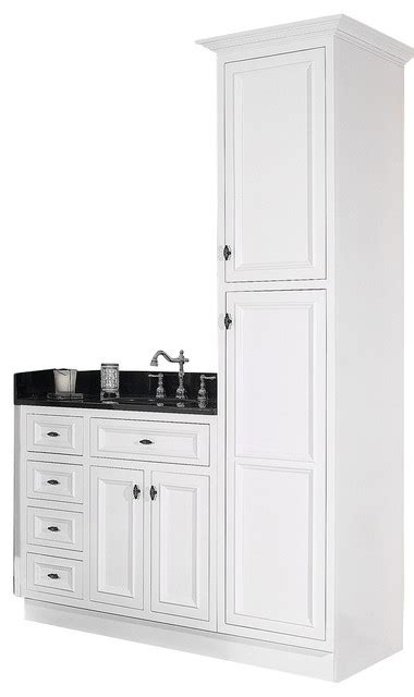 white linen closet for bathroom jsi danbury white bathroom vanity base and linen closet