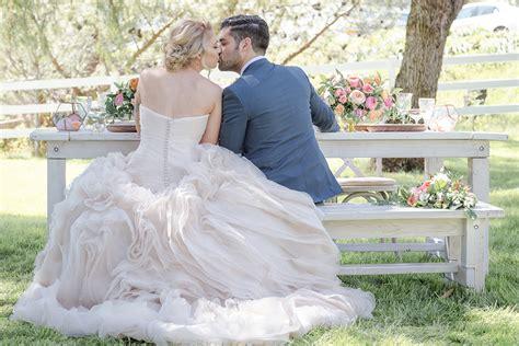 Zahara Organza Suit inspired ranch wedding