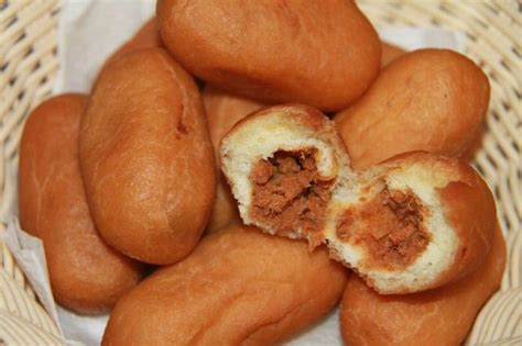 cara membuat roti goreng isi abon ikan resep kue luti gendang isi abon ikan tongkol enak