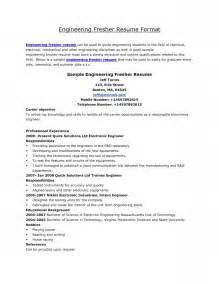 Best Resume Headline For Mechanical Engineer Fresher by Resume Formats For Fresher Engineer Free Resume Templates