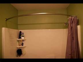 Double Rod Curtain Rod Shower Curtain Rod Round Shower Curtain Rod Ideas Youtube