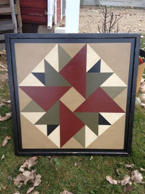Barn Quilt Designs by Primitive Painted Barn Quilt Small Frame 2 X 2