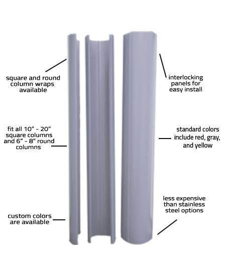 ideal shield column wraps ideal shield