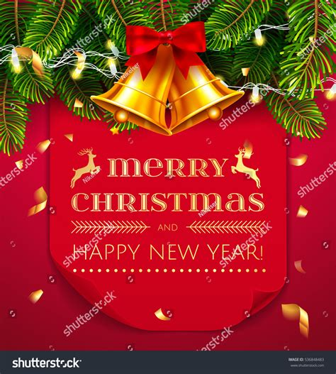 merry and happy new year card template merry happy new year greeting stock vector