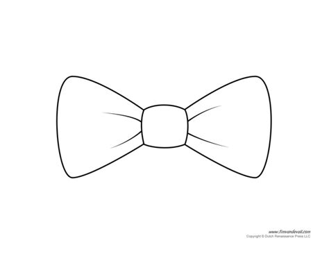 free coloring pages of bow tie