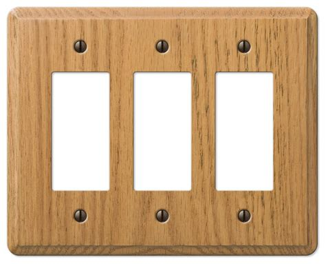 oak light switch covers contemporary oak wood 3 rocker wall plate contemporary