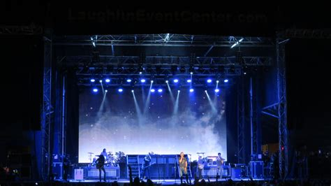 outdoor lights and sounds of outdoor concert sound av vegas sound systems stage