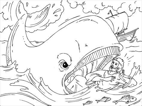 jonas y el gran pez dibujos para colorear jonas y la ballena para imprimir paracolorear net