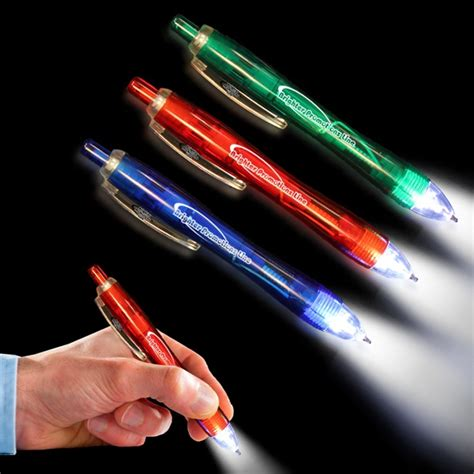 Lighted Pens by Promotional Trio Pen With Led Light And Stylus Farfromboring