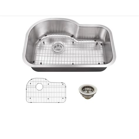 The Kitchen Sink Company Ipt Sink Company Undermount 29 In 18 Stainless Steel Kitchen Sink In Brushed Stainless
