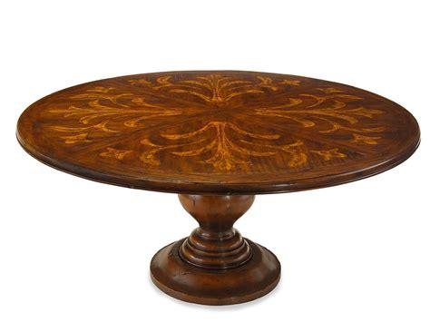 walnut brown wooden 72 round dining having pedestal