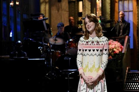 emma stone on snl emma stone appears on saturday night live