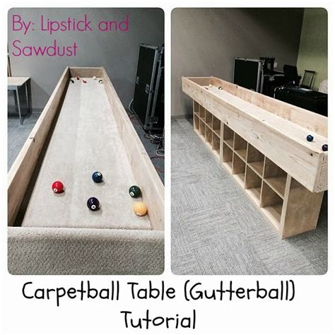 lipstick and sawdust how to build a carpetball table
