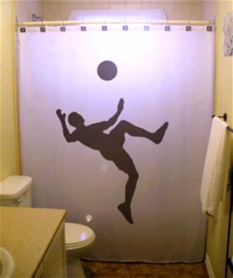 soccer shower curtain shower curtain soccer player football world cup ball