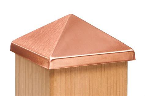 copper l post tops copper post point cap