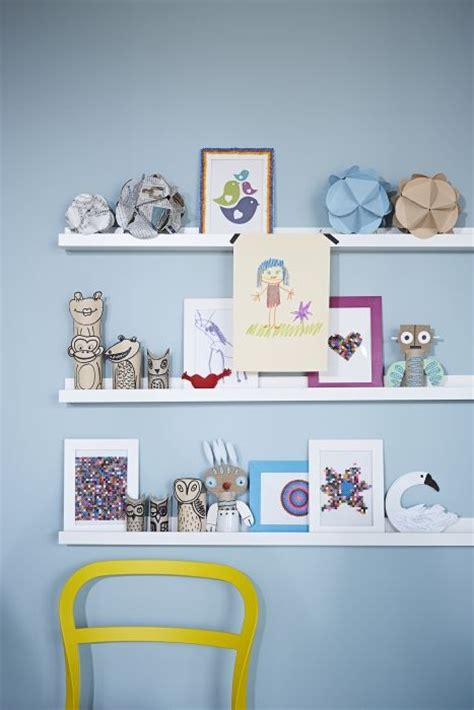 ribba picture ledge keep a revolving kids art gallery with a ribba picture