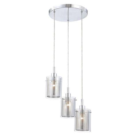 3 Light Glass Pendant Modern Multi Light Pendant Light With Clear Glass And 3 Lights P963 077 Destination Lighting