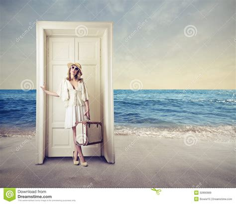 Waiting At Door by Waiting In Front Of A Door Royalty Free Stock Images Image 32890989