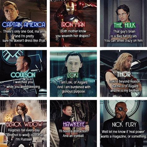 top marvel film quotes avengers funny quotes quotesgram