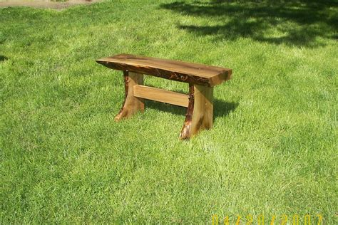 natural wood bench outdoor hand made natural edge outdoor garden bench by forest