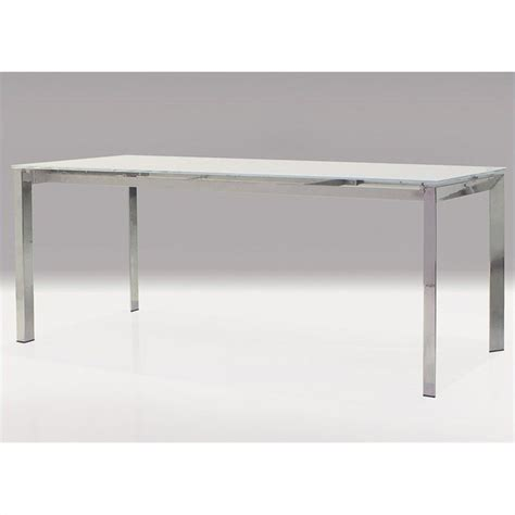 mobital ghost dining table in white dta ghos whit