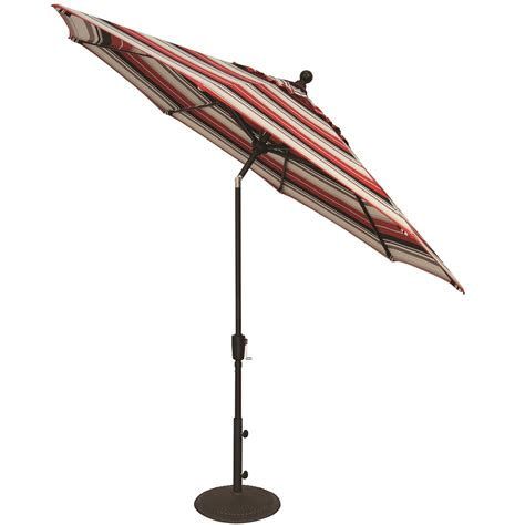 Treasure Garden Patio Umbrellas Treasure Garden Aluminum 9 Button Tilt Market Umbrella