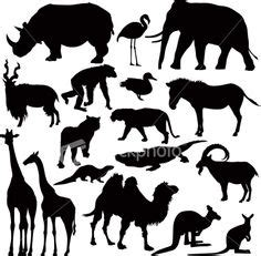 printable zoo animal silhouettes 1000 images about silhouettes stencils on pinterest