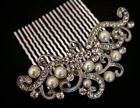 Faux Pearl Hair Clip Hair Pin vintage faux pearl hair combs tiara bridal wedding