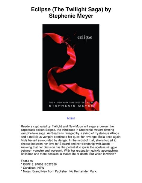 themes of eclipse by stephenie meyer eclipse the twilight saga by stephenie meyer eclipse