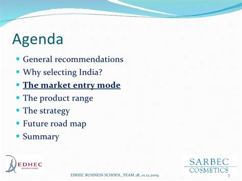 Edhec Mba Class Size by Sarbec Cosmetics India Marketing Strategy