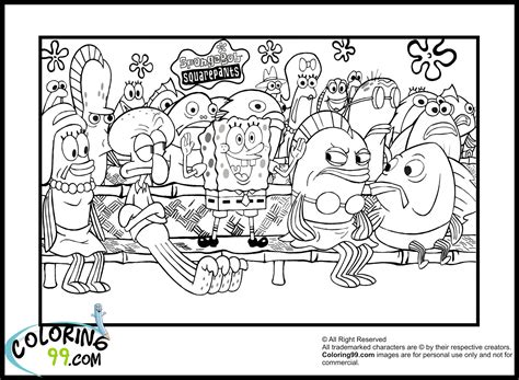 free coloring pages of from spongebob pineapple