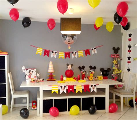 Decoration Mickey Anniversaire by Un Troisi 232 Me Anniversaire Quot Mickey Quot 100 Fait Maison Le