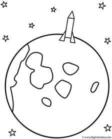 moon coloring pages rocket landing on the moon coloring page space