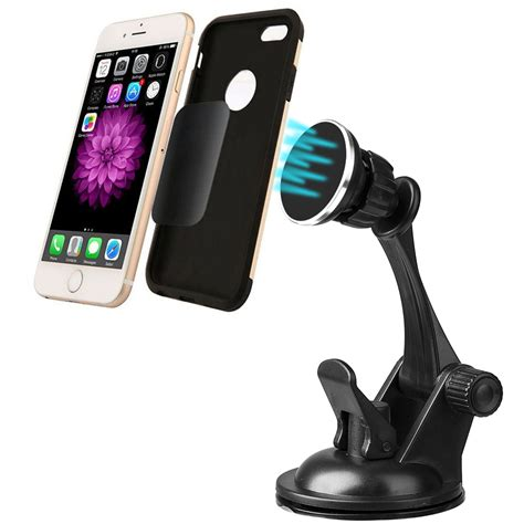 Monocozzi Mount Holder Dashboard 3 Adjustable Arm For Smartphones 21 saapni universal dashboard windshield magnetic car mount holder for cell phones and small