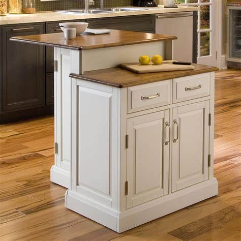 shop home styles white midcentury kitchen island at lowes