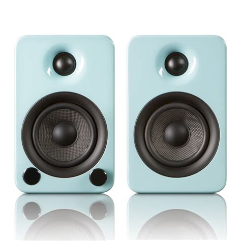 yu3 powered bookshelf speakers teal kanto touch