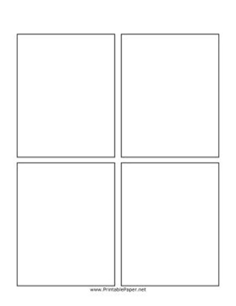 four panel comic template this simple blank comic book page has four boxes which