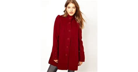 pleated swing coat free people pleated swing coat in red lyst