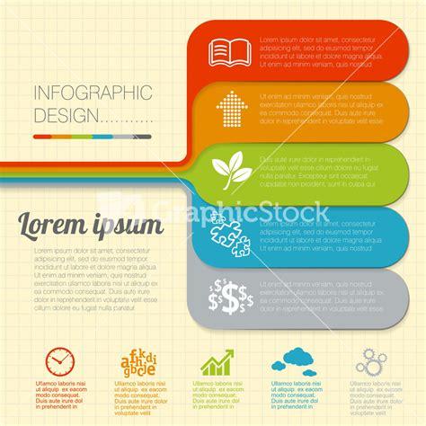 modern flat design minimal infographic structure vector