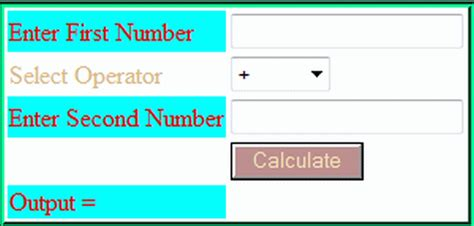 calculator using html create simple calculator in php