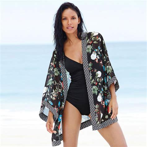 pattern for beach kimono fashion women kaftans kimono cover up dress ladies sexy